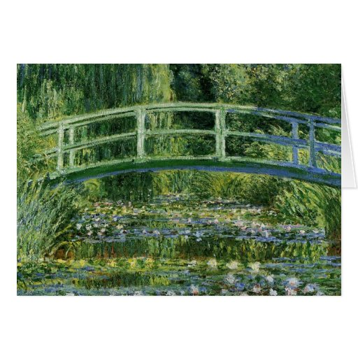 Claude Monet Water Lilies and Japanese Bridge Greeting Cards
