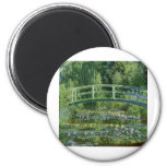 Claude Monet Water Lilies and Japanese Bridge Refrigerator Magnets