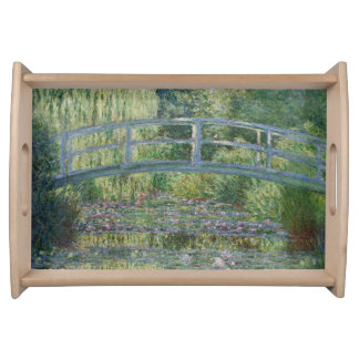 Claude Monet Water Lilies and Japanese Bridge Serving Tray