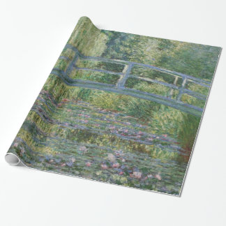 Claude Monet Water Lilies and Japanese Bridge Wrapping Paper