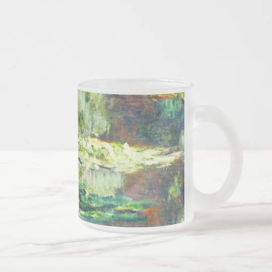 Claude Monet - Water Lilies - Bassin des Nympheas Frosted Glass Coffee Mug