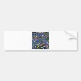 Claude Monet Water Lilies Car Bumper Sticker