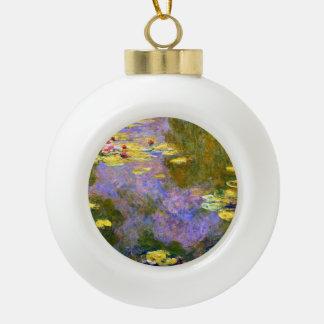Claude Monet: Water Lilies Ceramic Ball Christmas Ornament