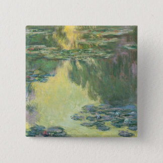 Claude Monet Water Lilies Impressionist Painting Button