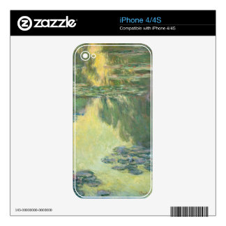 Claude Monet Water Lilies Impressionist Painting Decal For iPhone 4
