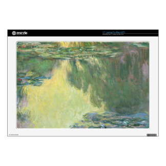 """Claude Monet Water Lilies Impressionist Painting Decals For 17"""" Laptops"""
