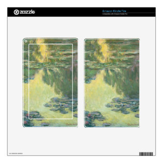 Claude Monet Water Lilies Impressionist Painting Decals For Kindle Fire
