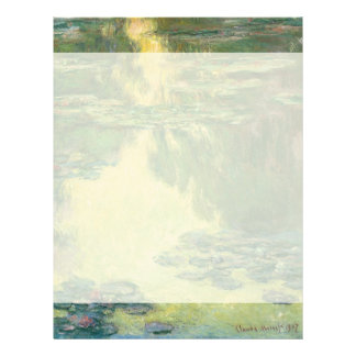 Claude Monet Water Lilies Impressionist Painting Letterhead