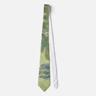 Claude Monet Water Lilies Impressionist Painting Neck Tie