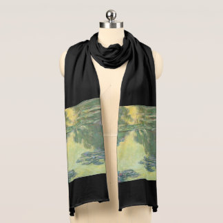 Claude Monet Water Lilies Impressionist Painting Scarf