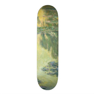 Claude Monet Water Lilies Impressionist Painting Skateboard