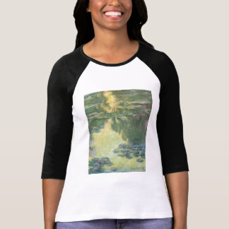 Claude Monet Water Lilies Impressionist Painting T-Shirt