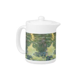 Claude Monet Water Lilies Impressionist Painting Teapot