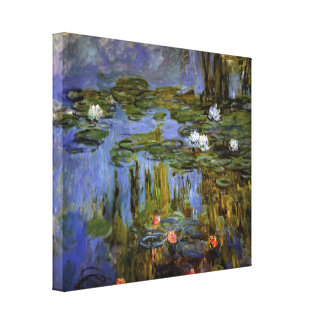Claude Monet - Water lilies in pond Canvas Print