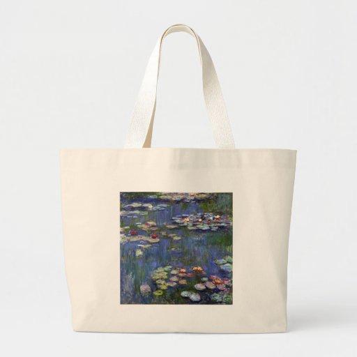 Claude Monet Water Lilies Jumbo Tote Bag