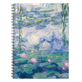 CLAUDE MONET - Water lilies Notebook