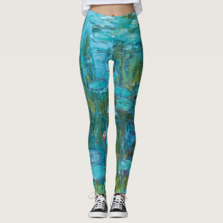 Claude Monet Water Lilies Nymphéas GalleryHD Leggings