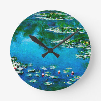 Claude Monet-Water-Lilies Round Clock
