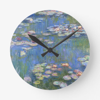 Claude Monet // Water Lilies Round Clock