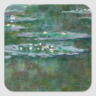 Claude Monet // Water Lilies Square Sticker