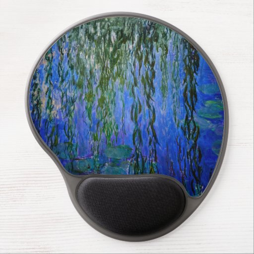 Claude Monet - Water Lilies with weeping willow Gel Mouse Pad