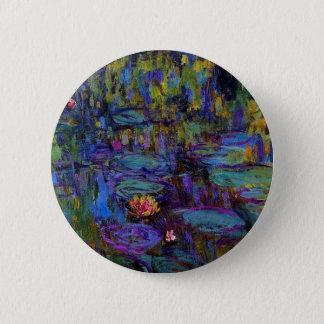 Claude Monet Water Lillies 1917 Button