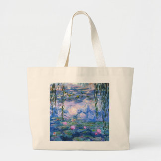 Claude Monet Water Lillies 1919 Large Tote Bag
