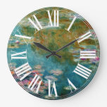 Claude Monet water lily at giverny Clock