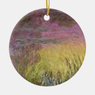 Claude Monet | Waterlilies at Sunset Ceramic Ornament