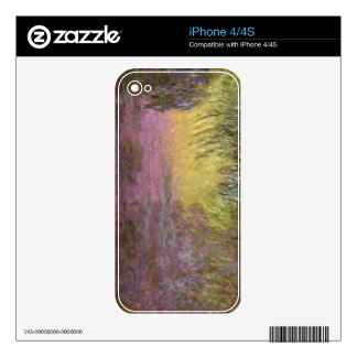 Claude Monet | Waterlilies at Sunset Decals For iPhone 4S