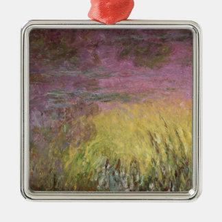 Claude Monet | Waterlilies at Sunset Metal Ornament