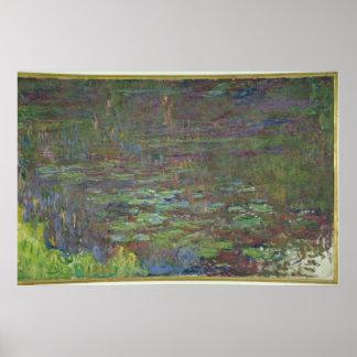 Claude Monet | Waterlilies at Sunset Poster