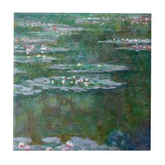 Claude Monet //Waterlilies Azulejo Cuadrado Pequeño