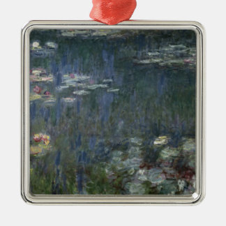 Claude Monet | Waterlilies: Green Reflections Metal Ornament