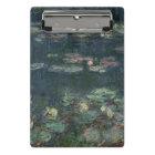 Claude Monet   Waterlilies: Green Reflections Mini Clipboard