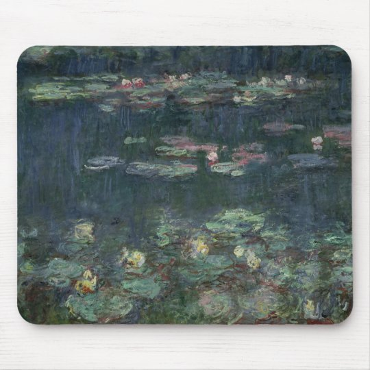 Claude Monet   Waterlilies: Green Reflections Mouse Pad
