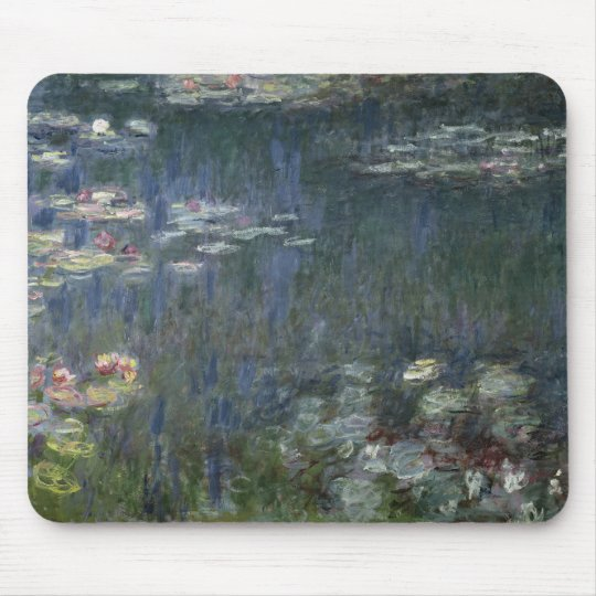 Claude Monet | Waterlilies: Green Reflections Mouse Pad