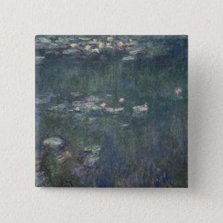 Claude Monet | Waterlilies: Green Reflections Pinback Button