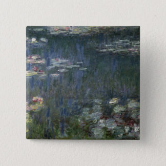 Claude Monet | Waterlilies: Green Reflections Pinback Button