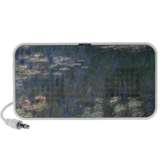 Claude Monet | Waterlilies: Green Reflections Portable Speaker
