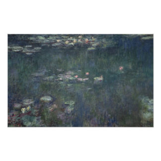 Claude Monet | Waterlilies: Green Reflections Poster