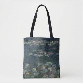 Claude Monet | Waterlilies: Green Reflections Tote Bag