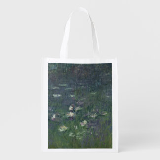 Claude Monet | Waterlilies: Morning, 1914-18 Grocery Bag