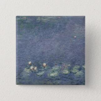 Claude Monet | Waterlilies: Morning, 1914-18 Pinback Button