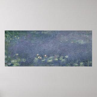 Claude Monet | Waterlilies: Morning, 1914-18 Poster