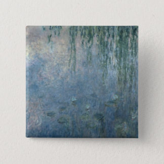 Claude Monet | Waterlilies: Morning Weeping Willow Button