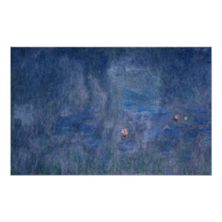 Claude Monet | Waterlilies: Reflections of Trees Poster