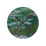 Claude Monet // Waterlilies Round Clock