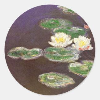 Claude Monet - Waterlilies Classic Round Sticker