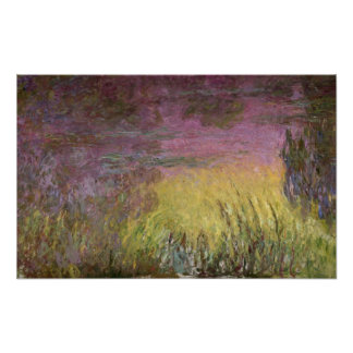 Claude Monet | Waterlilies Sunset, 1915-26 Poster